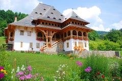 Traditional building of Barsana monastery Royalty Free Stock Photo