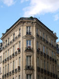 Traditional building corner. Building corner in Paris (France royalty free stock photography
