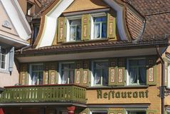 Traditional building exterior, Appenzell, Switzerland. stock photography