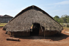 Traditional building house in Cambodia ethnic minority village Royalty Free Stock Photo