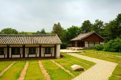 Traditional building, Kaesong, North-Korea Stock Photos
