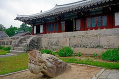 Traditional building, Kaesong, North-Korea Royalty Free Stock Photos