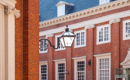 Traditional building and lamp in Amsterdam Royalty Free Stock Photo