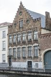 Traditional building near the Groenerei canal Bruges Royalty Free Stock Images