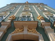 Traditional building with ornaments registry office ,Szczecin, poland royalty free stock photography