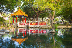 Traditional building in a park in Taipei, taiwan Royalty Free Stock Photography