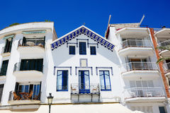 The traditional building in Sitges town Royalty Free Stock Photos