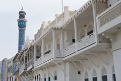 Traditional building style in Muscat Oman stock photo
