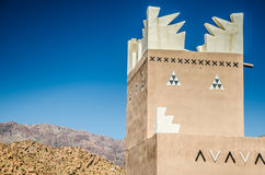 Traditional building in Tafraoute, Morocco Stock Image