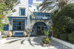 Traditional building in Tunis Royalty Free Stock Photography