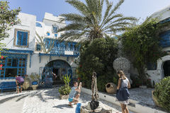 Traditional building in Tunis Stock Images