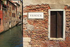 Traditional building wall in Venice Stock Image