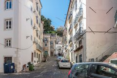 Alfama District in Lisbon, Portugal Stock Images