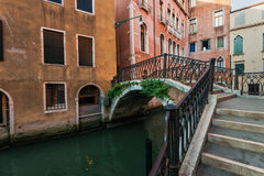Traditional buildings on the canal of Venice, Italy. Stock Photography