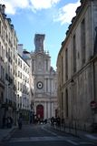 Traditional buildings, French architecture of Paris, France royalty free stock photography