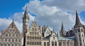 Traditional buildings in gent Royalty Free Stock Photo