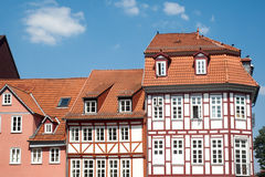 Traditional  buildings in Gottingen . Royalty Free Stock Photo