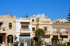 Traditional buildings, Malta. Royalty Free Stock Images