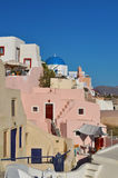 Traditional buildings in Oia village Stock Photography