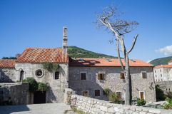 Traditional Buildings in the Old Town of Budva, Budva Riviera, M. Ontenegro Royalty Free Stock Photo