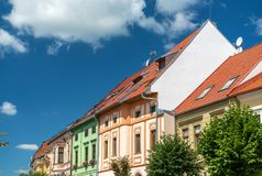 Traditional buildings in the old town of Levoca, Slovakia. Traditional buildings in the old town of Levoca. A UNESCO world heritage site in Slovakia stock image