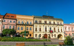 Traditional buildings in the old town of Presov, Slovakia Royalty Free Stock Photo