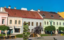 Traditional buildings in the old town of Presov, Slovakia Stock Photography