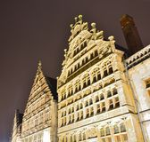 Traditional buildings on a rainy night Royalty Free Stock Photo