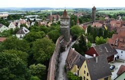 Traditional buildings of Rothenburg ob der Tauber, Bavaria, Germany stock photos
