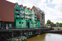 Traditional buildings of Zaandam, Netherlands Stock Photography