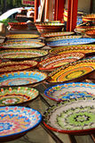 Traditional Bulgarian ceramic plates Royalty Free Stock Photography
