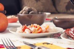 Traditional Bulgarian Christmas Eve Table Setup Royalty Free Stock Image