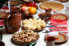 Traditional Bulgarian Christmas food Royalty Free Stock Photos