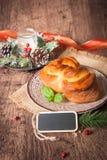Traditional Bulgarian Christmas Pita Bread royalty free stock photo