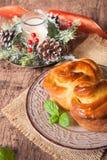 Traditional Bulgarian Christmas Pita Bread stock photography