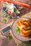 Traditional Bulgarian Christmas Pita Bread stock images