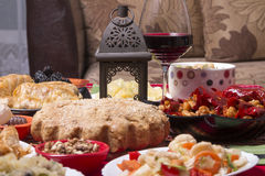 Traditional bulgarian christmas table setup Royalty Free Stock Photo