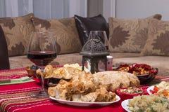 Traditional bulgarian christmas table setup. Vegetarian food Stock Photography