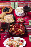Traditional bulgarian christmas table setup Stock Photography