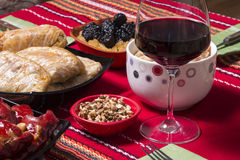 Traditional bulgarian christmas table setup Stock Image