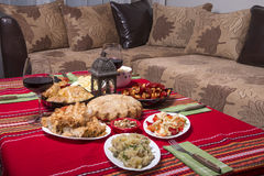Traditional bulgarian christmas table setup Royalty Free Stock Image