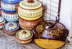 Traditional bulgarian clay pots Royalty Free Stock Photo