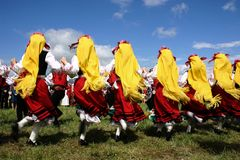 Traditional bulgarian dances Stock Photo