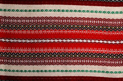 Traditional bulgarian embroidery. Colorfull  traditional bulgarian embroidery,closeup Royalty Free Stock Images
