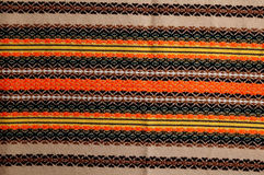 Traditional bulgarian embroidery. Colorfull  traditional bulgarian embroidery,closeup Royalty Free Stock Photo