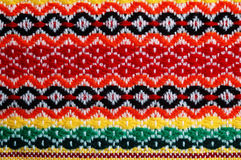 Traditional bulgarian embroidery. Colorfull  traditional bulgarian embroidery,closeup Stock Photo