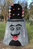 Traditional bulgarian festive masks from jambol Stock Image