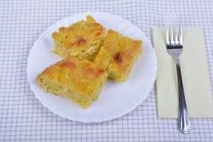 Traditional bulgarian food banitsa stuffed with cheese Stock Photos