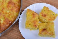 Traditional bulgarian food banitsa stuffed with cheese Royalty Free Stock Photo