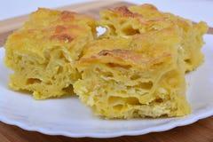 Traditional bulgarian food banitsa stuffed with cheese Stock Image